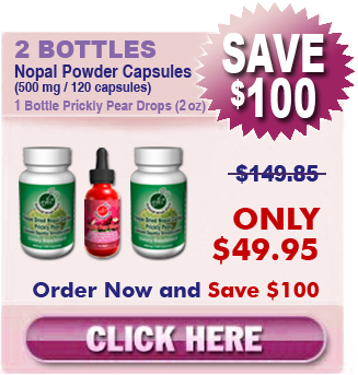 2 Bottles Freeze Dried Nopal & 1 Bottle Prickly Pear Drops (2 oz)