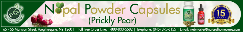 Nopal Powder Capsules (Prickly Pear) Living Pain Free Newsletter